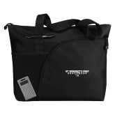 Excel Black Sport Utility Tote-Gray Bee Logo Bee in Middle