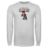 White Long Sleeve T Shirt-St Benedicts Prep Gray Bees