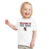 Toddler White T Shirt-Welcome to the Hive