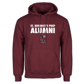 Maroon Fleece Hoodie-Alumni with Fighting Bee