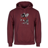Maroon Fleece Hoodie-Fighting Bee