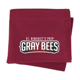 Maroon Sweatshirt Blanket-Gray Bee Logo