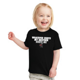 Toddler Black T Shirt-Whatever Hurts My Brother Hurts Me