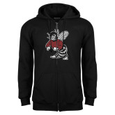 Black Fleece Full Zip Hoodie-Fighting Bee