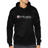 Adidas Black Team Issue Hoodie-St Benedicts Wordmark