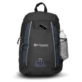 Impulse Black Backpack-St Benedicts Wordmark