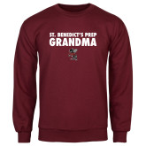 Maroon Fleece Crew-Grandma with Fighting Bee