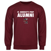 Maroon Fleece Crew-Alumni with Fighting Bee