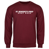 Maroon Fleece Crew-Gray Bee Logo No Bee