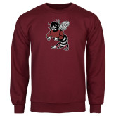 Maroon Fleece Crew-Fighting Bee