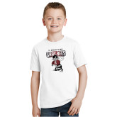 Youth White T Shirt-St Benedicts Prep Gray Bees