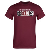 Maroon T Shirt-Gray Bee Logo