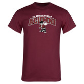 Maroon T Shirt-Alumni Gray Bees with Seal