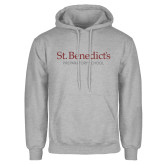 Grey Fleece Hoodie-St Benedicts Secondary Wordmark