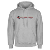 Grey Fleece Hoodie-Gray Bee Logo