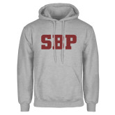 Grey Fleece Hoodie-Athletic Wordmark