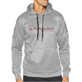 Adidas Grey Team Issue Hoodie-St Benedicts Wordmark