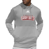 Adidas Grey Team Issue Hoodie-Gray Bee Logo