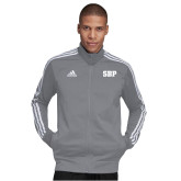 Adidas Grey Tiro 19 Training Jacket-Athletic Wordmark
