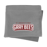 Grey Sweatshirt Blanket-Gray Bee Logo
