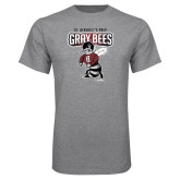Grey T Shirt-St Benedicts Prep Gray Bees