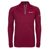 Under Armour Maroon Tech 1/4 Zip Performance Shirt-St Benedicts Secondary Wordmark