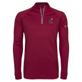 Under Armour Maroon Tech 1/4 Zip Performance Shirt-Fighting Bee