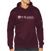 Adidas Maroon Team Issue Hoodie-St Benedicts Wordmark
