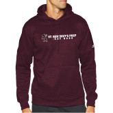 Adidas Maroon Team Issue Hoodie-Gray Bee Logo