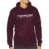 Adidas Maroon Team Issue Hoodie-Gray Bee Logo No Bee