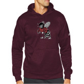 Adidas Maroon Team Issue Hoodie-Fighting Bee