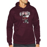 Adidas Maroon Team Issue Hoodie-St Benedicts Prep Gray Bees