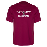 Performance Maroon Tee-Basketball Gray Bee Logo Bee in Middle