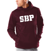 Under Armour Maroon Armour Fleece Hoodie-Athletic Wordmark