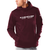 Under Armour Maroon Armour Fleece Hoodie-Gray Bee Logo No Bee