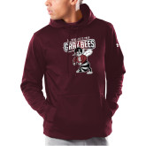 Under Armour Maroon Armour Fleece Hoodie-St Benedicts Prep Gray Bees