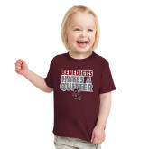 Toddler Maroon T Shirt-Benedicts Hates A Quitter