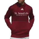 Adidas Cardinal Team Issue Hoodie-St Benedicts Secondary Wordmark