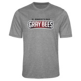 Performance Grey Heather Contender Tee-Gray Bee Logo