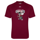 Under Armour Maroon Tech Tee-St Benedicts Prep Gray Bees