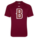 Under Armour Maroon Tech Tee-B Mark