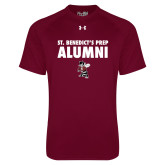 Under Armour Maroon Tech Tee-Alumni with Fighting Bee