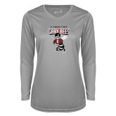 Ladies Syntrel Performance Platinum Longsleeve Shirt-St Benedicts Prep Gray Bees