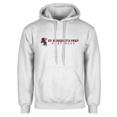 White Fleece Hoodie-Gray Bee Logo