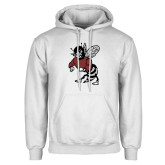 White Fleece Hoodie-Fighting Bee
