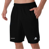 Adidas Black Clima Tech Pocket Short-Gray Bee Logo