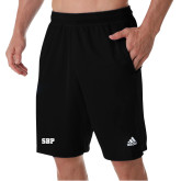 Adidas Black Clima Tech Pocket Short-Athletic Wordmark