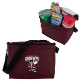 Six Pack Maroon Cooler-St Benedicts Prep Gray Bees