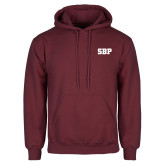 Maroon Fleece Hoodie-Athletic Wordmark