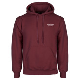 Maroon Fleece Hoodie-Gray Bee Logo No Bee